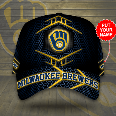 Personalized MLB Milwaukee Brewers 3D Cap
