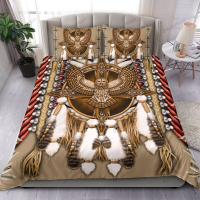 Native Great Horned Owl American Bedding Set