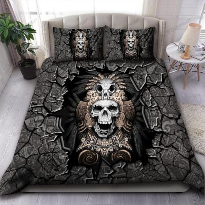 Aztec Skull Warrior military special forces Bedding Set