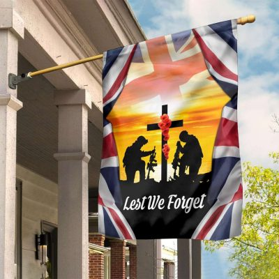 Lest We Forget UK Remembrance Day Special flag