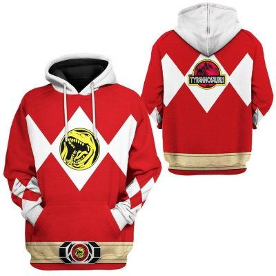Mighty Morphin Power Ranger Red Hoodie Special Edition