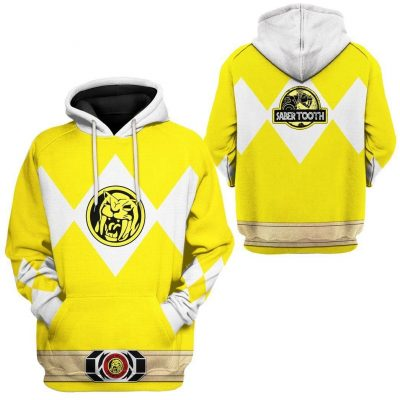 Mighty Morphin Power Ranger Yellow Hoodie Special Edition