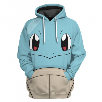 3D Pokemon Squirtle Full Printed Hoodie and T-shirt
