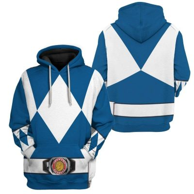 Cosplay Blue MIGHTY MORPHIN Power Ranger Personalized Hoodies