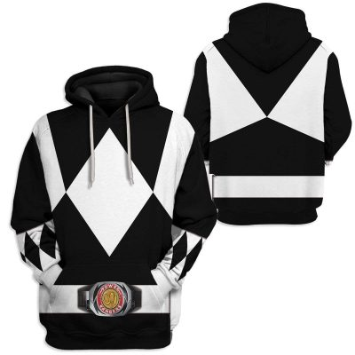 Cosplay Black MIGHTY MORPHIN Power Ranger Personalized Hoodies