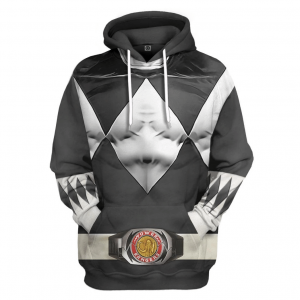 Mighty Morphin Black Power Rangers Custom Ugly Sweater Special Edition