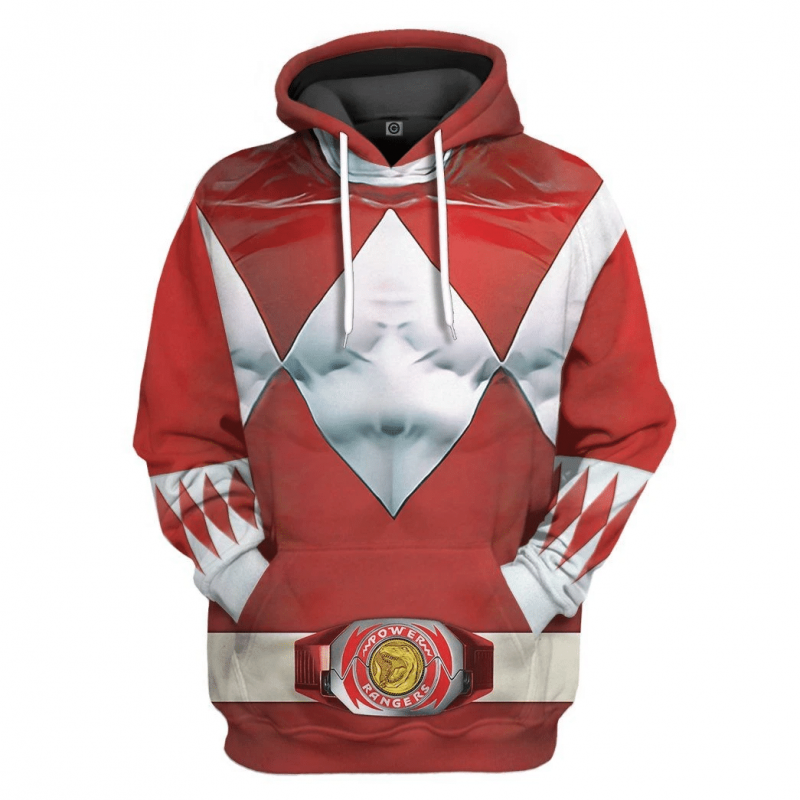 Mighty Morphin Red Power Rangers Hoodie Special Edition