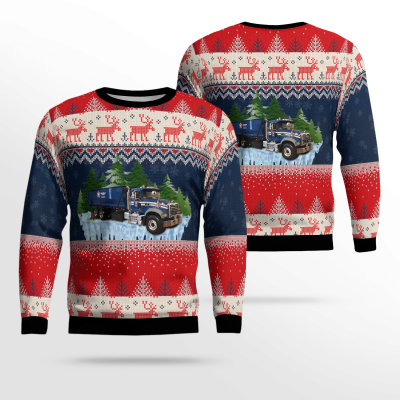 Republic Services Roll Off Truck Ugly Sweater
