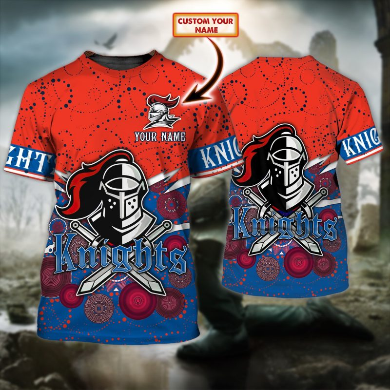 Custom Name NRL Newcastle Knights Limited T-shirt for fans