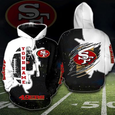 NFL San Francisco 49ers Sky Hoodie Personalized Name