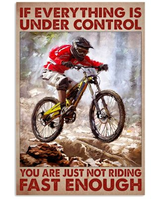 You are just not riding fast enough poster