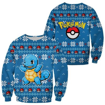 Pokemon Ugly Christmas Sweater Squirtle Chirstmas Gift
