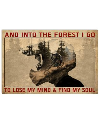 Motorbike into the forest I go poster